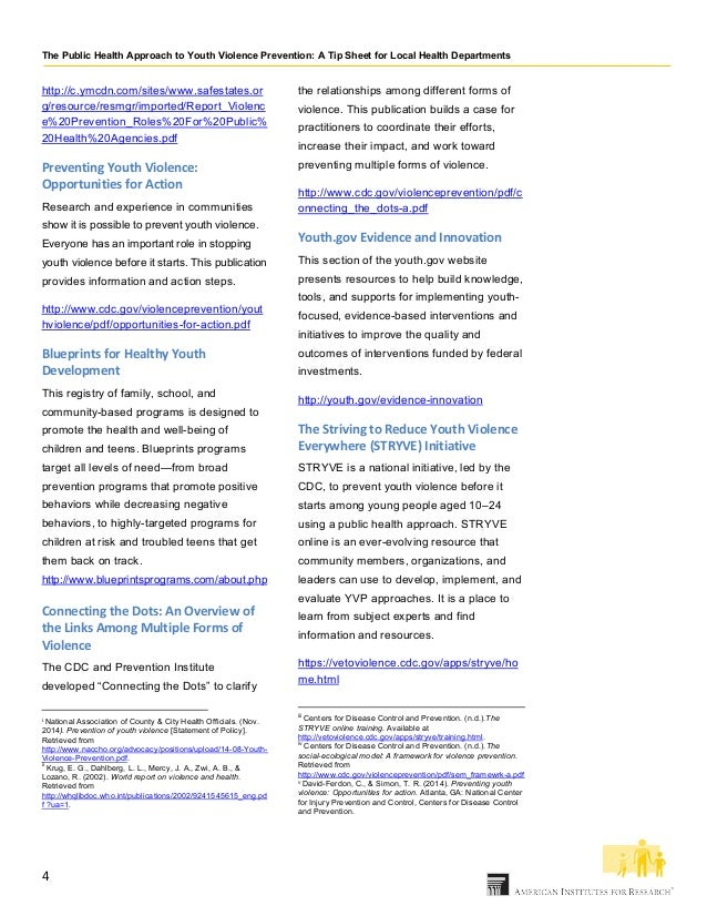 Public health approach to youth violence prevention 3 4 malvernweather Choice Image