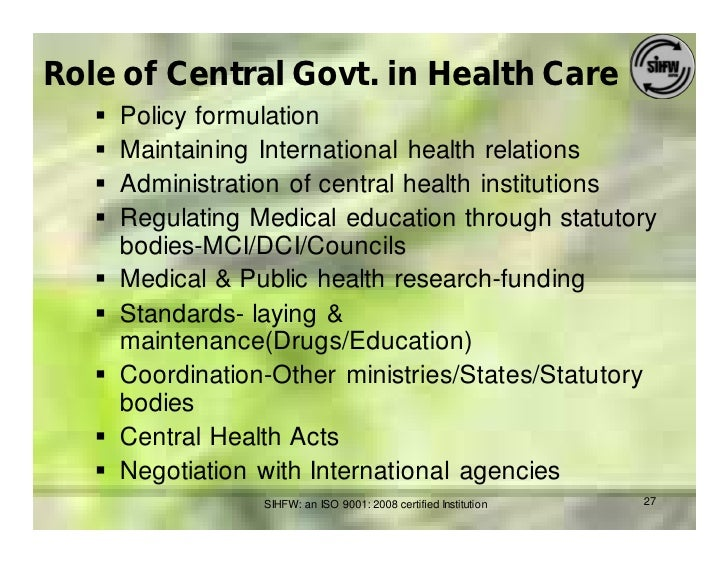 what is the role of the ministry of health