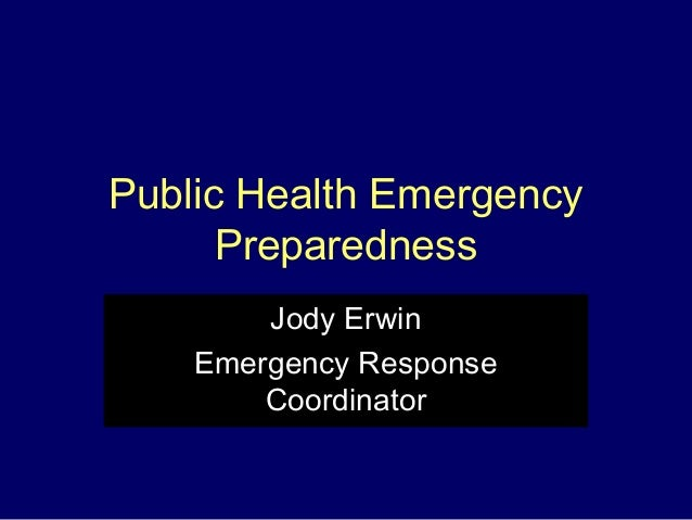 Public Health Emergency Preparedness