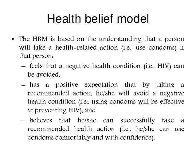 research paper on health belief model