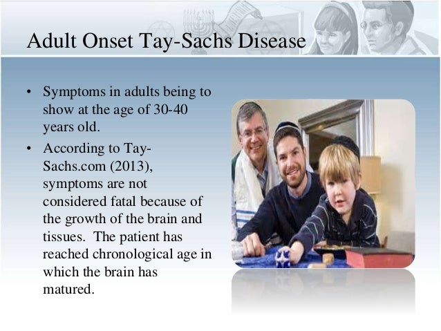 tay sachs disease in adult