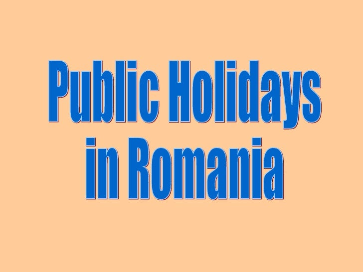 Official Non-working Holidays January 1          April/May                    - Easter The official holiday is the - New Y...