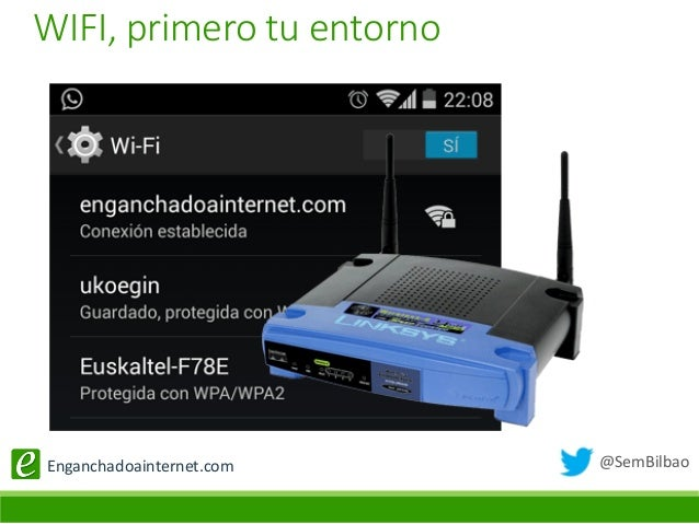 @SemBilbaoEnganchadoainternet.com WIFI, primero tu entorno