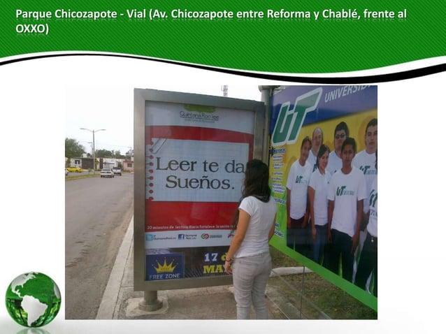 Parque Chicozapote - Vial (Av. Chicozapote entre Reforma y Chablé, frente alOXXO)