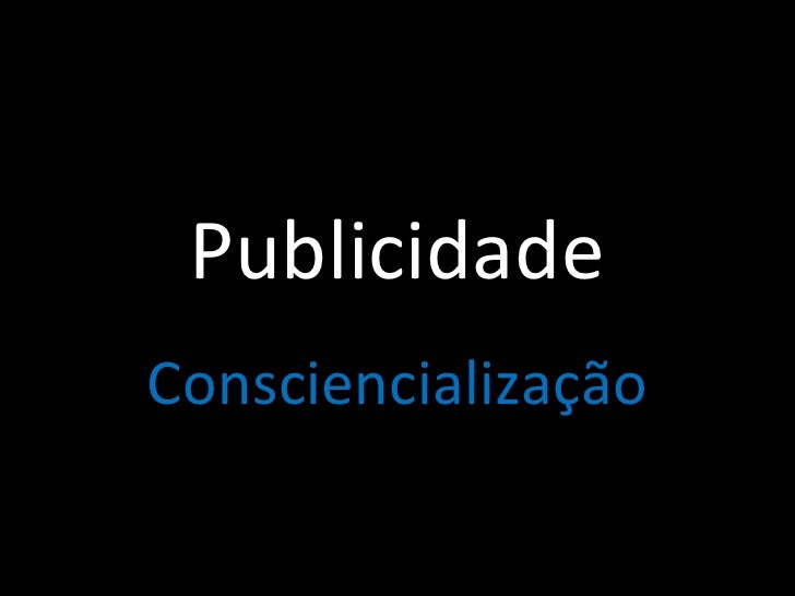 Publicidade Consciencialização
