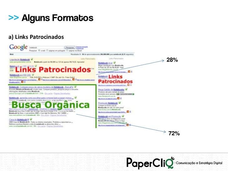 >> Alguns Formatosa) Links Patrocinados                        28%                        72%