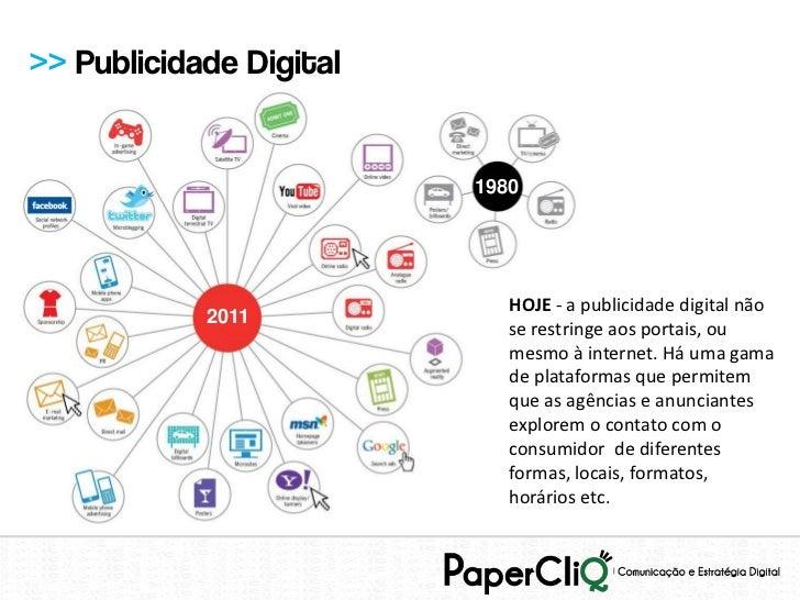 >> Publicidade Digital                         1980                            HOJE - a publicidade digital não           ...