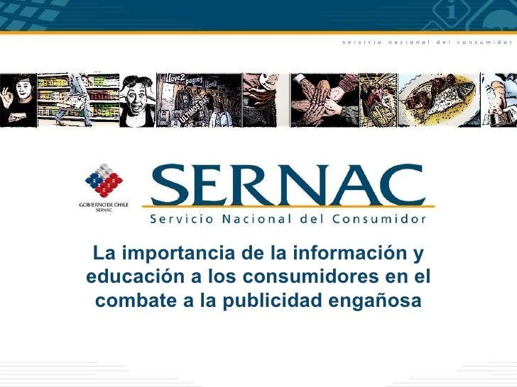 La importancia de la información yeducación a los consumidores en el combate a la publicidad engañosa