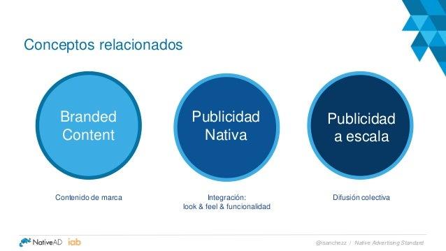 Publicidad Nativa Conceptos relacionados Branded Content Publicidad a escala Contenido de marca Integración: look & feel &...
