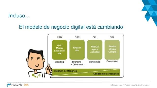 Incluso… El modelo de negocio digital está cambiando Native Advertising Standard@isanchezz /