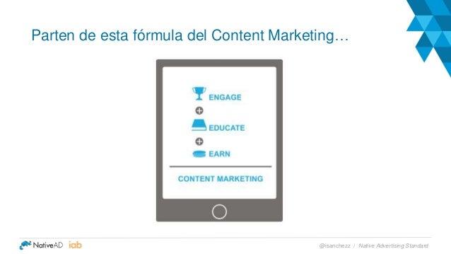 Parten de esta fórmula del Content Marketing… Native Advertising Standard@isanchezz /