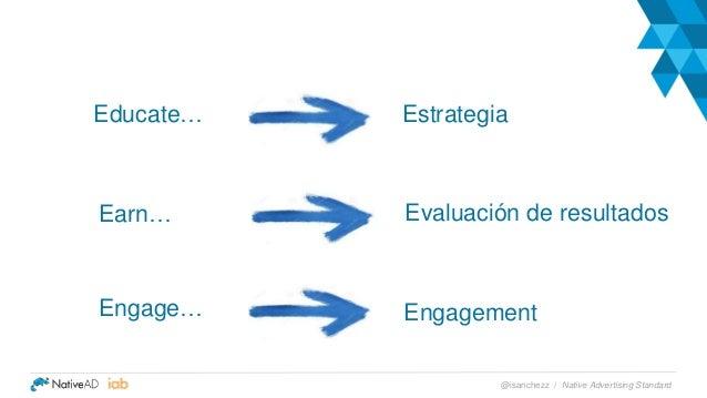 Engagement Earn… Educate… Evaluación de resultados Estrategia Engage… Native Advertising Standard@isanchezz /