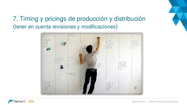 7. Timing y pricings de producción y distribución (tener en cuenta revisiones y modificaciones) Native Advertising Standar...