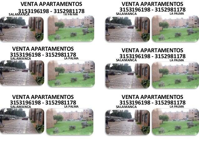 VENTA APARTAMENTOS 3153196198 - 3152981178SALAMANCA LA PALMA VENTA APARTAMENTOS 3153196198 - 3152981178 SALAMANCA LA PALMA...