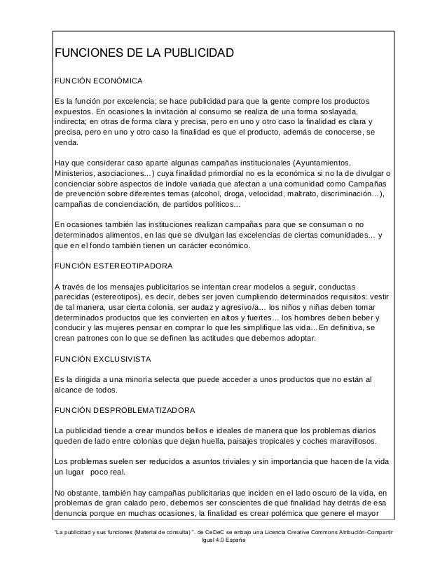 La publicidad y sus funciones (Material para alumnos) Slide 2