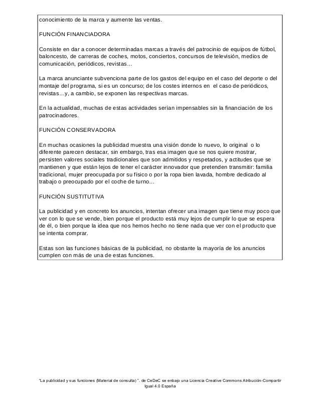 La publicidad y sus funciones (Material para alumnos) Slide 3