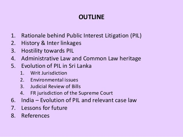 meaning of public interest litigation Public interest litigation, in indian law, means litigation for the protection of public interest it is litigation introduced in a court of law, not by the aggrieved.