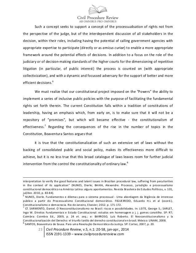 Public interest litigation and co participative judicial enforcement of public policies