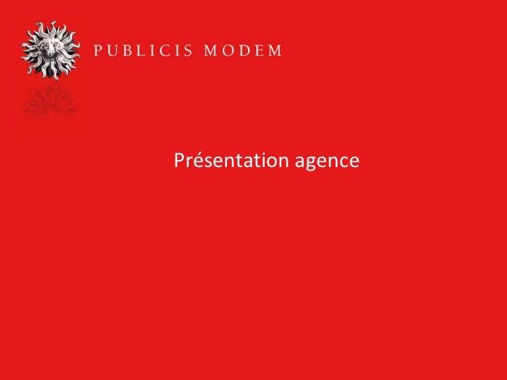 Présentation agence