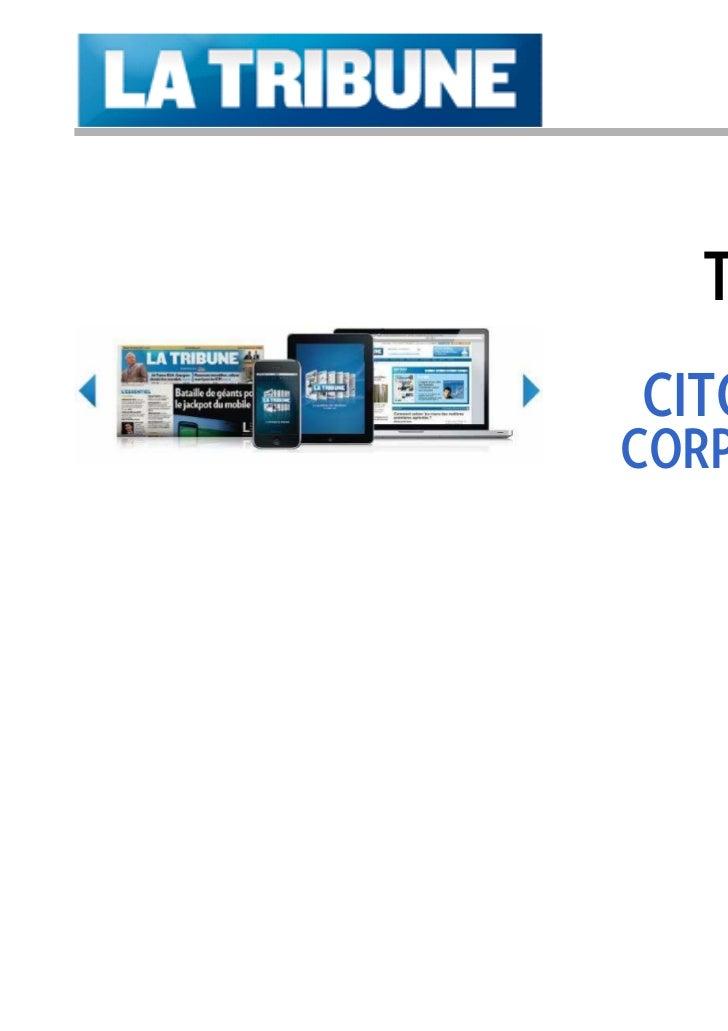 Tarifs 2011   PUBLICITÉCITOYENNE &CORPORATE RH