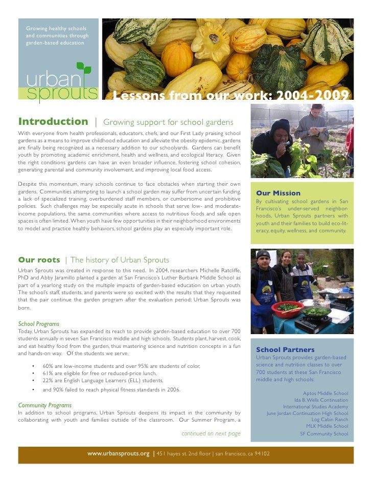 Growing healthy schools    and communities through    garden-based education                                             L...