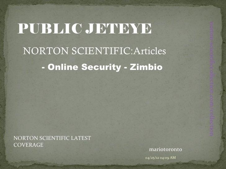 PUBLIC JETEYE                                                  norton-scientificcollection.com/collection  NORTON SCIENTIF...