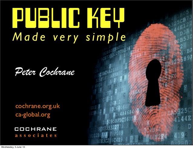 PUBLIC KEYM a d e v e r y s i m p l ePeter Cochranecochrane.org.ukca-global.orgCOCHRANEa s s o c i a t e sWednesday, 5 Jun...