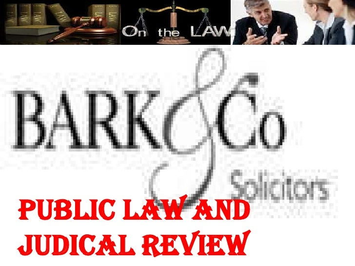 Public law andJudical review