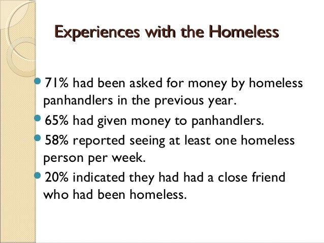 the effect of society on the homeless in america The psychology of poverty and its impact on mental health in america  poverty and the homeless  the number of people experiencing homelessness in america.