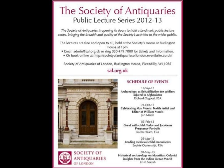 Society of Antiquaries Lectures