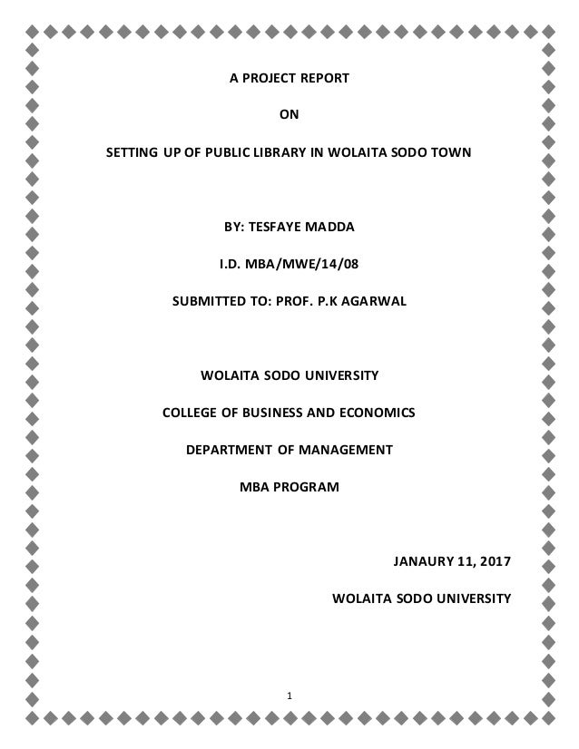Public Library Project by Tesfaye Madda, MBA Student at