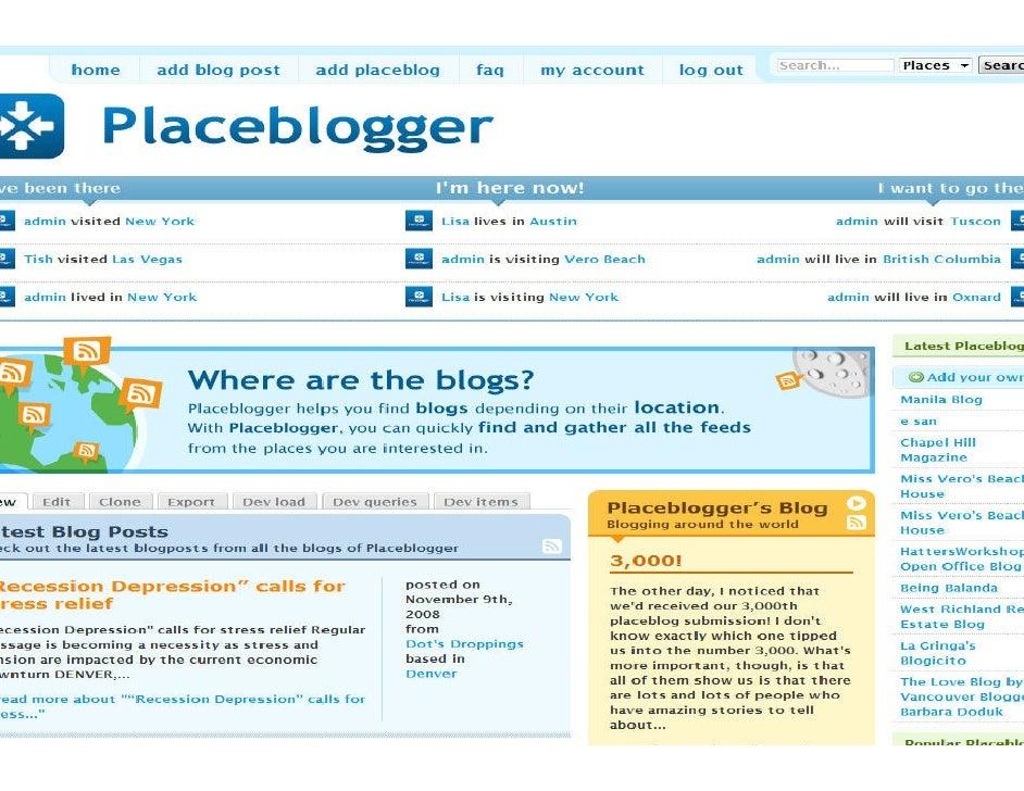 Screenshot of Placeblogger                              placeblog