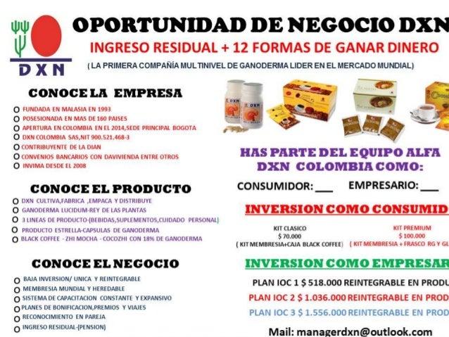 llull OPORTUNIDAD DE NEGOCIO DXN INGRESO RESIDUAL + 12 FORMAS DE GANAR DINERO  ll'  D x N (LA PRIMERA COMPAÑÍA MULTINIVEL ...