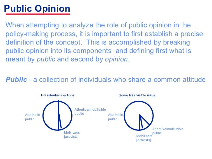 the role of public opinion in american politics Forming public opinion  certain groups are socialized to a more active role in politics,  the primary political generations in american politics include the.