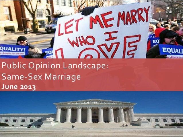 Public Opinion Landscape:Same-Sex MarriageJune 20130
