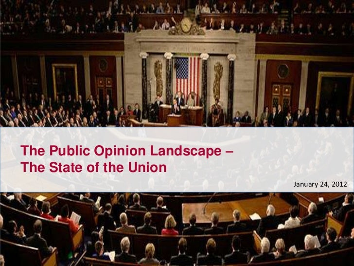 The Public Opinion Landscape –The State of the Union                                 January 24, 2012