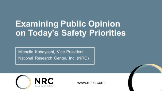 Public Opinion on Safety | Michelle Kobayashi