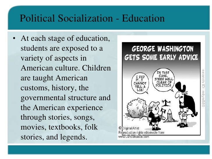 political socialization and political opinions Proved the strongest predictor of the direction of student politics, with offspring closely following the political views of their parents (3) both social class and family politics directly affected student politics but had no effect on socialization and (4) religion alone was able to explain variance in the direction of student politics.