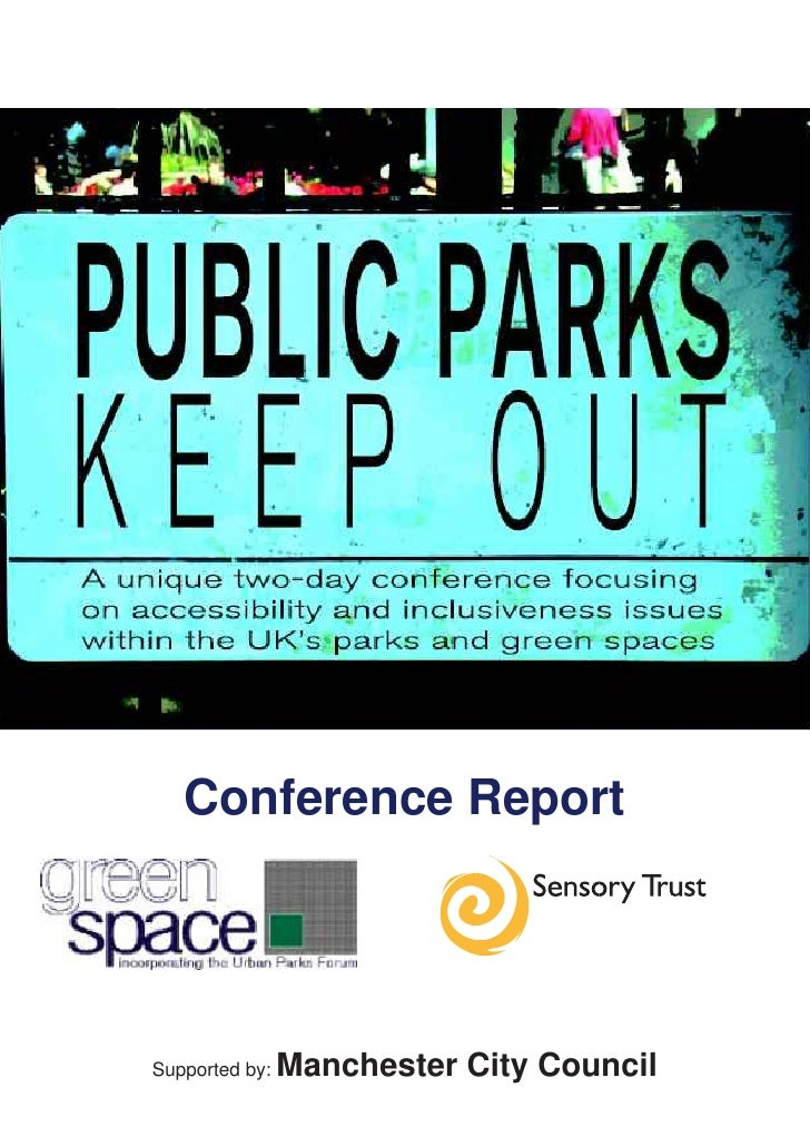 Conference ReportSupported by:   Manchester City Council
