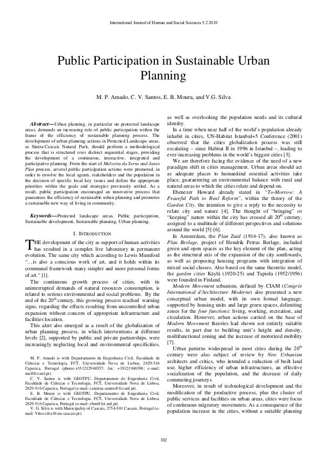 Abstract—Urban planning, in particular on protected landscape areas, demands an increasing role of public participation wi...