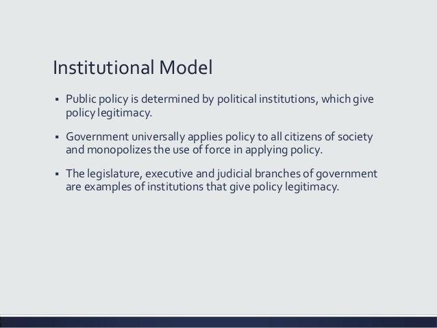 Institutionalism model term paper