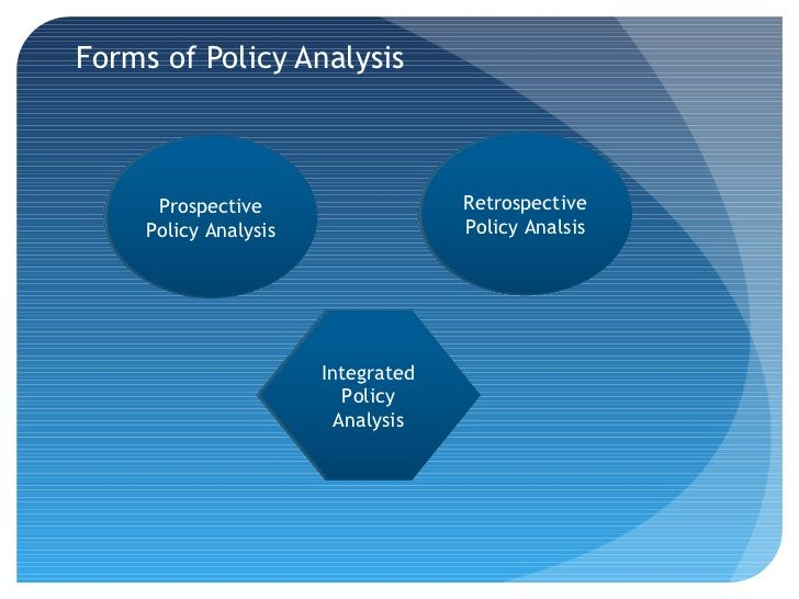 Forms of Policy Analysis      Prospective                   Retrospective     Policy Analysis                Policy Analsi...
