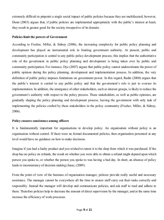 public policy and its developmet process  9 extremely