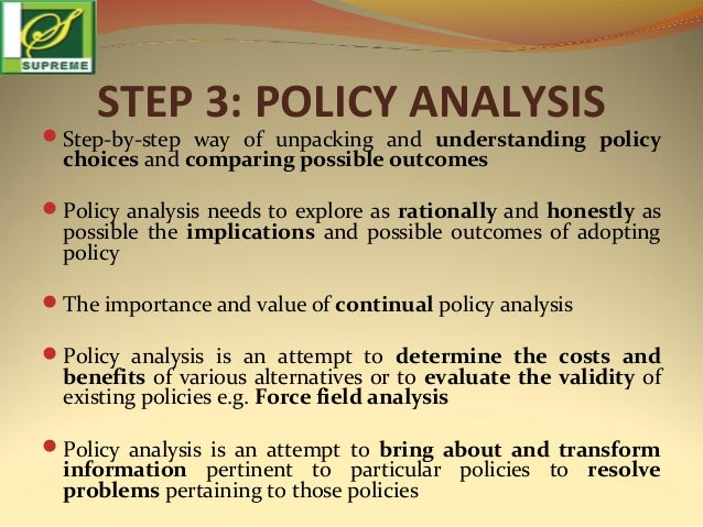 POLICY ANALYSIS TOOLS DOWNLOAD