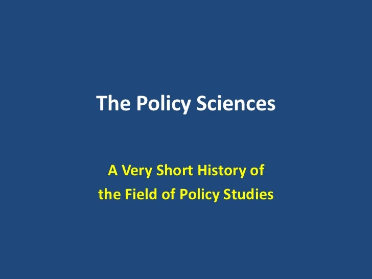 History of science policy