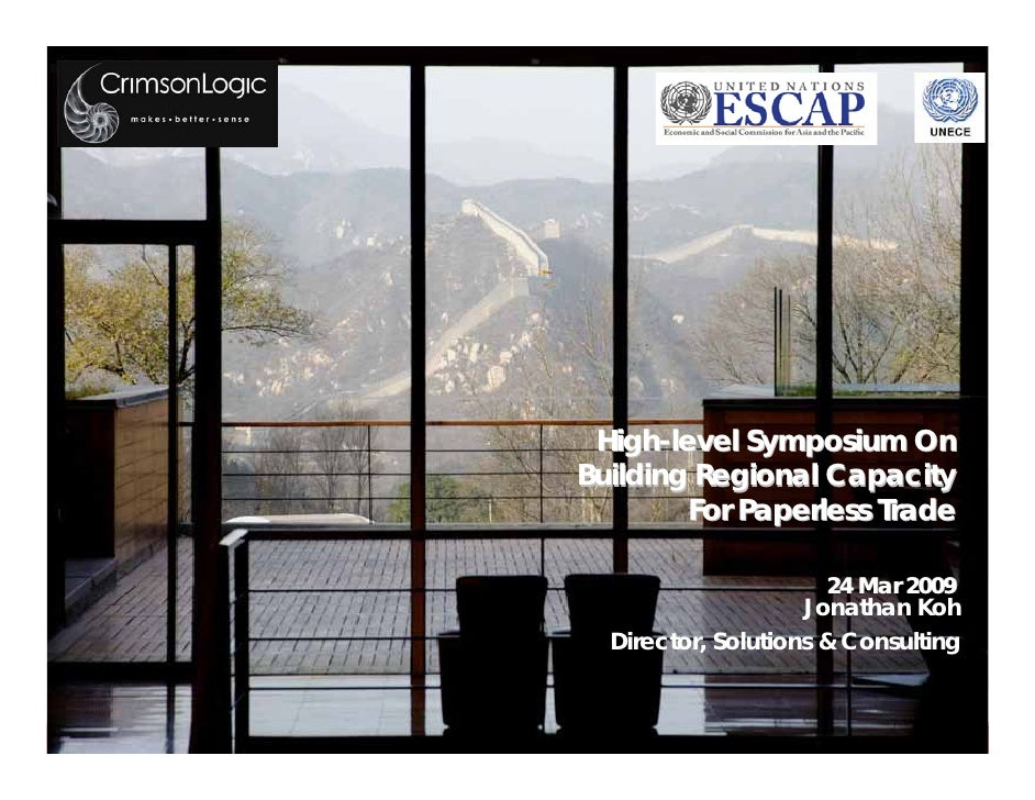 High-level Symposium On                           Building Regional Capacity                                   For Paperle...
