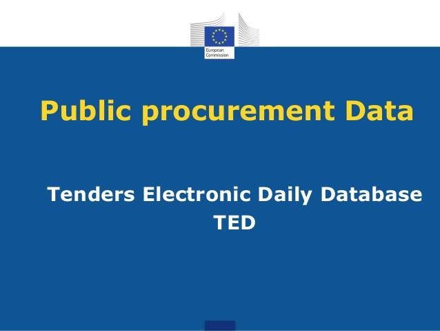Public procurement Data Tenders Electronic Daily Database TED