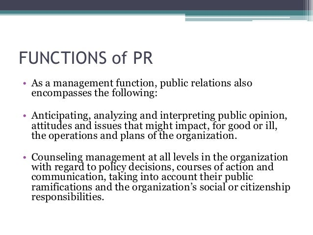 functions public relations 3 Public relations committee job descriptions 2 functions as liaison between the public relations chairperson and the board of directors 3.