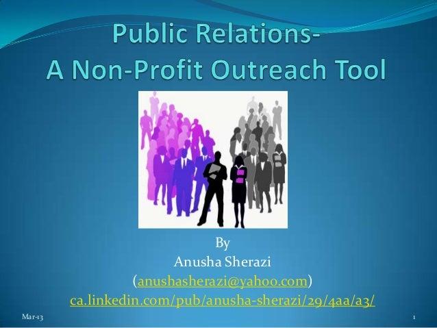 By                         Anusha Sherazi                   (anushasherazi@yahoo.com)         ca.linkedin.com/pub/anusha-s...