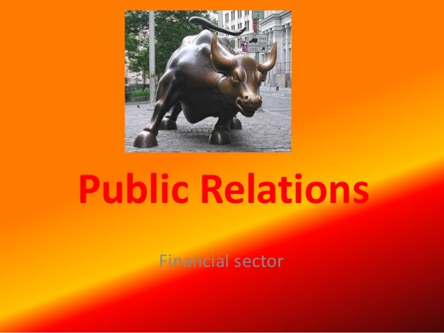 Public Relations Financial sector